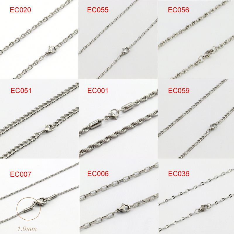 <strong>1</strong> 2 3 Mm Top Selling Stainless Steel Necklaces Man Jewelry Chains
