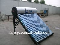 Compact non pressure solar energy water heater