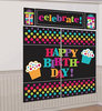 Polka Dot Happy Birthday Scene Setters Wall Decorating Kit for Party