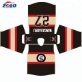 Slim fit string lace neck hockey jersey