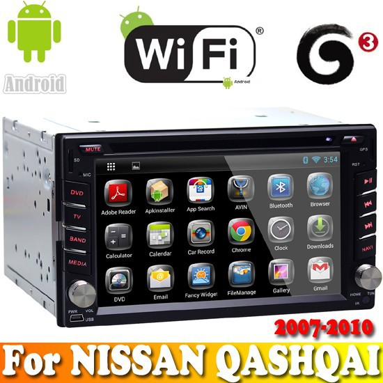 A9 Dual Core android 4.2.2 system touch sreen car dvd gps navigation for NISSAN QASHQAI 2007-2010 car radio bluetooth wifi 3G