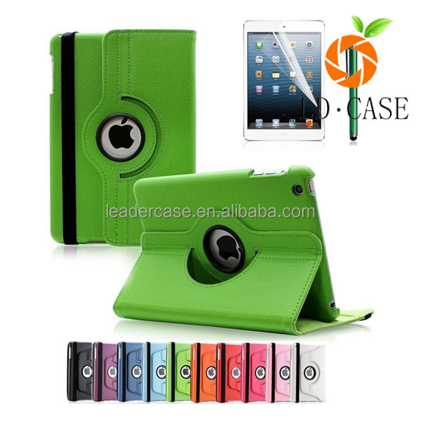 Slim Pu Leather 360 Degree Rotating Case Cover Stand For New IPad Mini Case Tablet Case