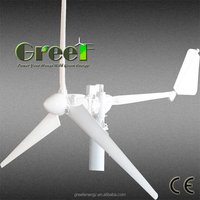 2016 New 3000w horizontal axis wind mill with 3 phase and low rpm, low torque, low noise and low price
