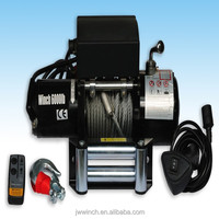 12v/24v Car winch 6000lb electric power source application and auto electric winch