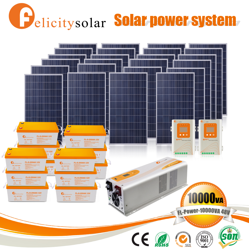 China manufacturer stand alone solar system 6kw for El Salvador