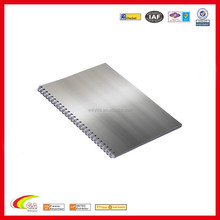 2016 Aluminum cover notebook with engraved logo factory directly