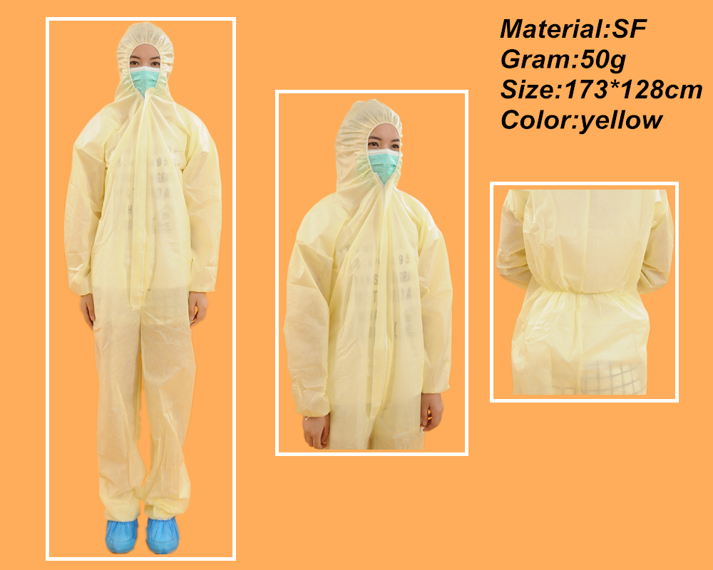 Microporous Coverall/SF Type Bound Stitched Seam Coverall