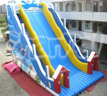 PVC Christmas inflatable giant double lane bouncy slide for adults and kids