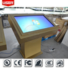 Modern design hotel] free standing 55 inch interactive wifi 3g network ad player wireless all in one machine