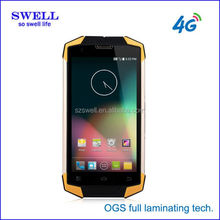 mobiles cellphone 4G LTE durable outdoor phone 5inch IP68 Android4.4 OEM CE RoHs waterproof certificate X9
