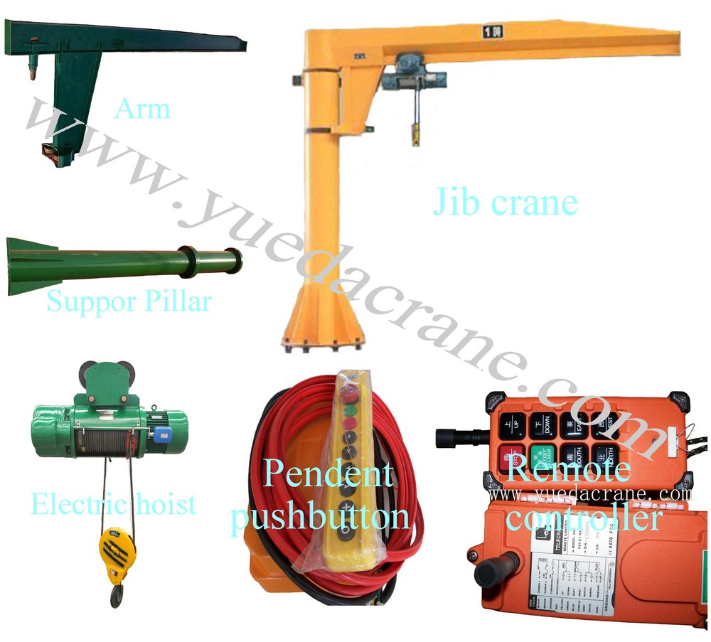 small swing arm lift jib crane on sale