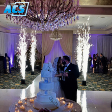 Indoor Stage Sparkler Machine and white dance floor for Wedding Party Effect Machine