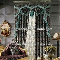 fashion home decoration laser cutting linen fabric curtain