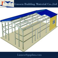 China building low cost light steel prefab house