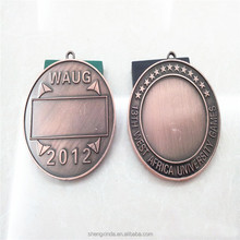High Quanlity Blank Metal Medal in Antique Plating with Custom Design Round Medal