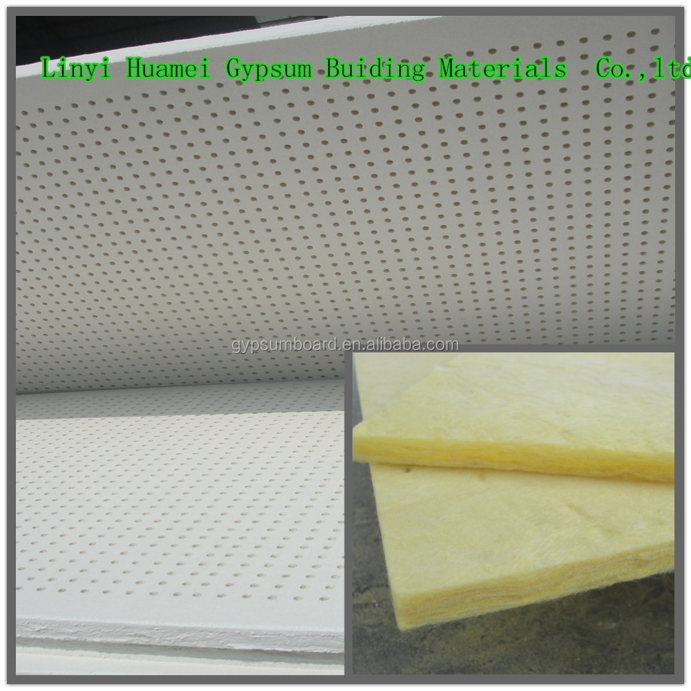 Perforated Acoustic Panel Wall And Ceiling Covering Materials / 600*600 acoustic panel