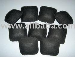 Pillow Shaped Wood Based Charcoal Briquettes