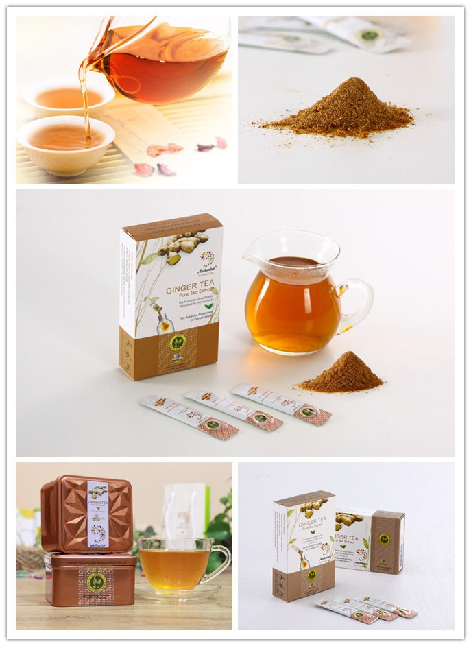 Authentea Instant Ginger Tea Extract for Warming Stomach,Powder Form