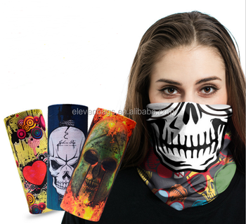 MOQ 10pcs Head black skull cheap wholesale bandanas