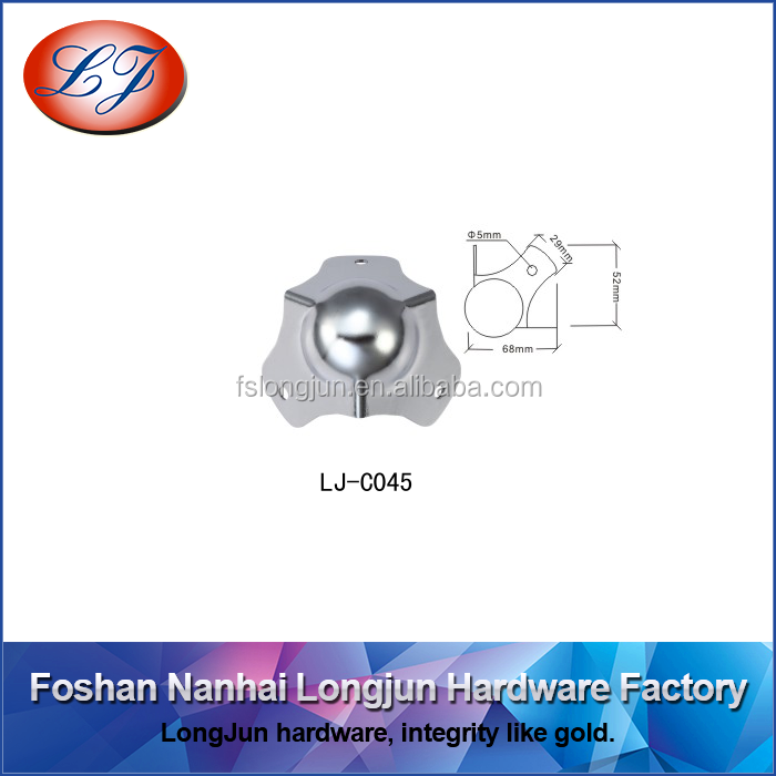 C045 three holes metal ball corner for case hardware