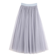 Pleated Mesh half-length dress 2019 spring and summer Korean star Adult Women Tutu <strong>Skirt</strong>