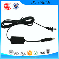 Home Appliance Application UL2468 22*2C 5.5*2.5mm DC Power Cable,DC jack power cable,2 core power cable