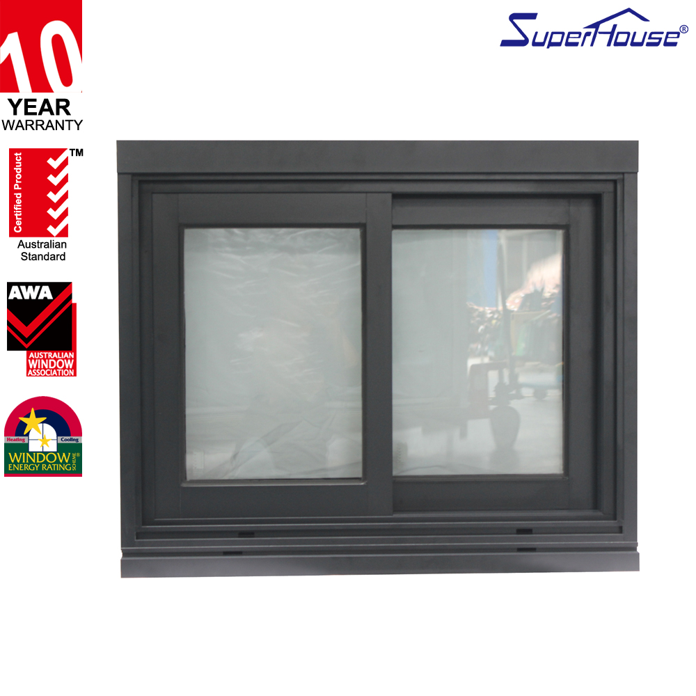 Superhouse Sound-insulation Cheap Price Aluminium Sliding Window comply with AS2047 standard