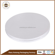 alibaba china LFGB certificate Silver round laminated MDF cake boards