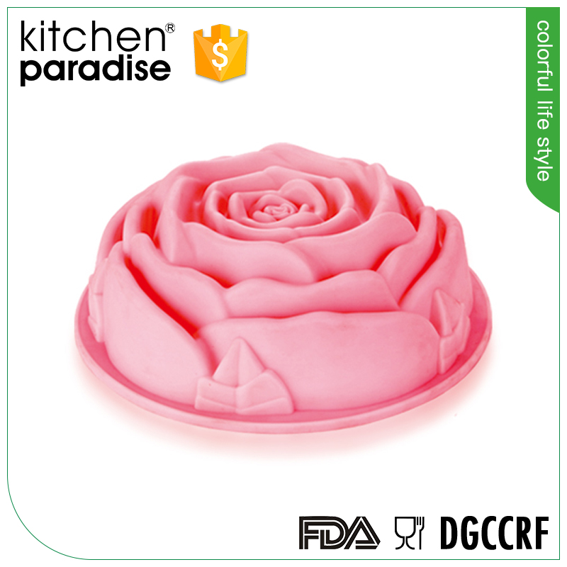 Fabrik Preis silikon backen kuchen tools big rose form