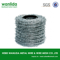 BWG 16 galvanized barbed wire length per roll ( SGS )