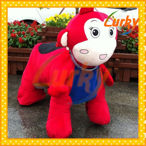 Colorful led lights plush animal toys with high quality material producing