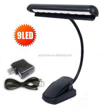 New Mighty Bright clip-on clip on Orchestra piano music stand 9 LED light reading desk lights lamp