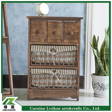 Hot Sale Shabby Chic Wooden Cabinets with Drawers