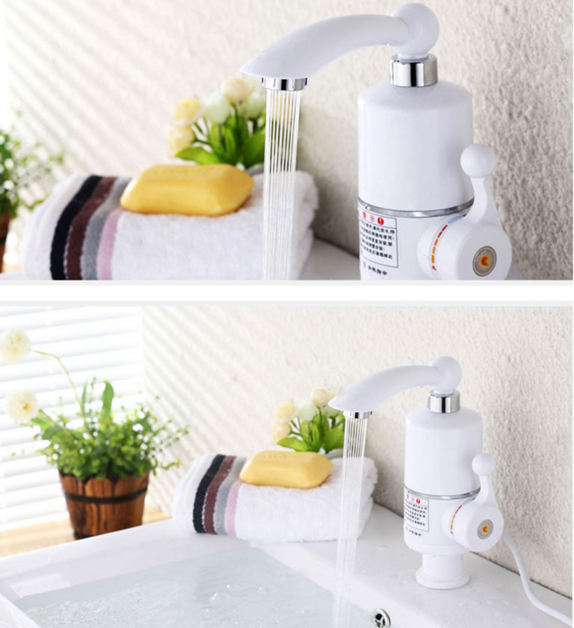 220v 3000w Wall Mounted Instant Water Heater Kitchen Tap Tankless Electric Hot Water Heater Faucet