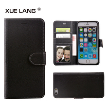 Custom PU Leather Mobile Phone Accessories Flip Wallet Case for iphone 5 6 7