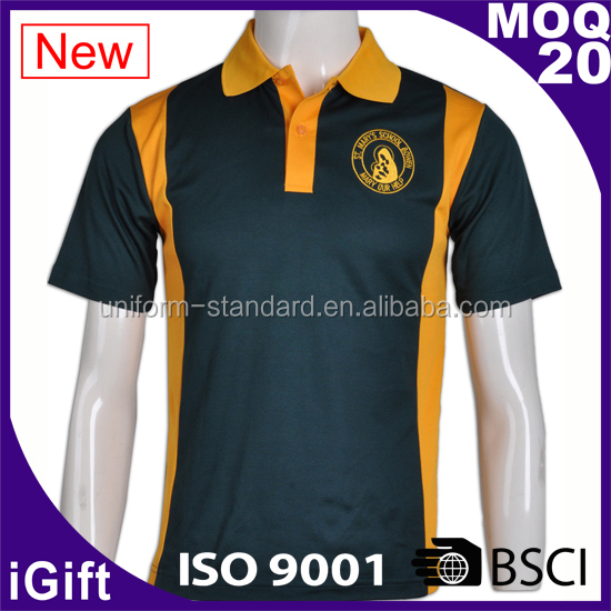 School Uniform Factory Girls' short sleeve men polo t-shirt 100% polyester