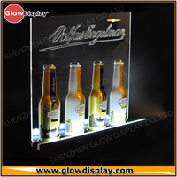 Superior quality LED lighting acrylic wine display Liquor bottle display stand