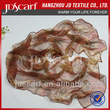 factory directly gorgeous silk tulle with print daily scarf 2015 (JDS-045)
