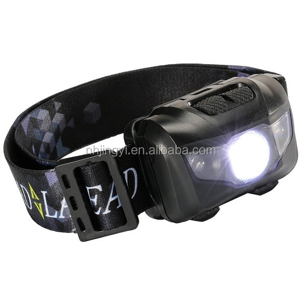 Red white light two buttons 3W rechargeable sensor 180 lumen LED headlamp kids