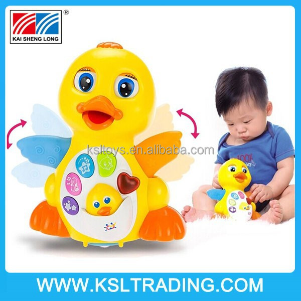 2015 Hot sale Battery operated Electric EQ universal Swing duck with music