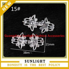 new arrival decorative western rhinestone pair buckles for garment accessories
