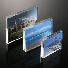 "Waterproof Clear Acrylic Magnetic Photo Frame 5"" 6"" 7"" 8"" Picture Display Frames"