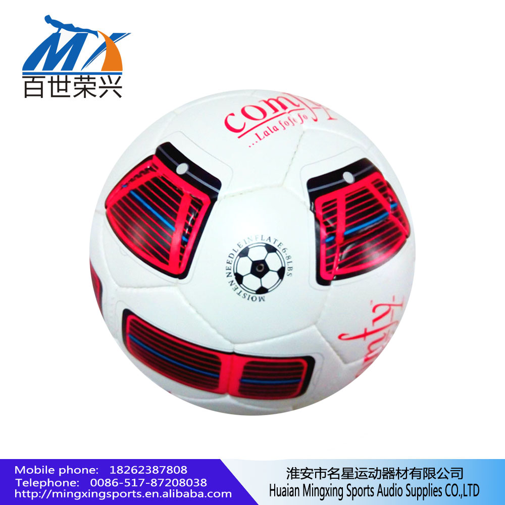 sports goods factory wholesales 5# soccer ball 2.7mm pvc leather rubber bladder 389g football ball