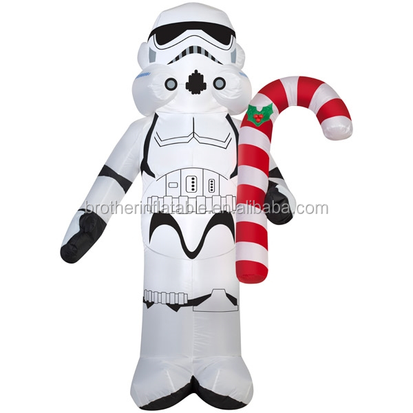 Wholesale cheap xmas decorations , customized christmas gift , Inflatable Stormtrooper supply in china