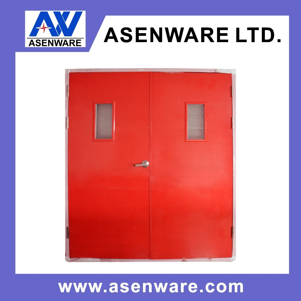 Apartment use double leaf Steel Fireproof Fire Rated Door