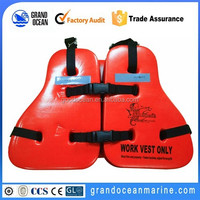 PVC foam life jacket wok vest for seaman use on offshore platform