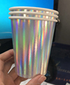 fancy party cup ,laser paper cup , gilding paper cup