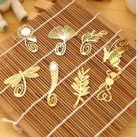 Creative Chinese classical retro style leaf veins hollow metal bookmark Clover factory manufacturing