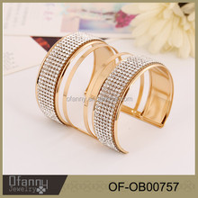 Gold plated bangle 18K gold jewelry Crystal bracelet bangles for woman fashion jewelry 2016