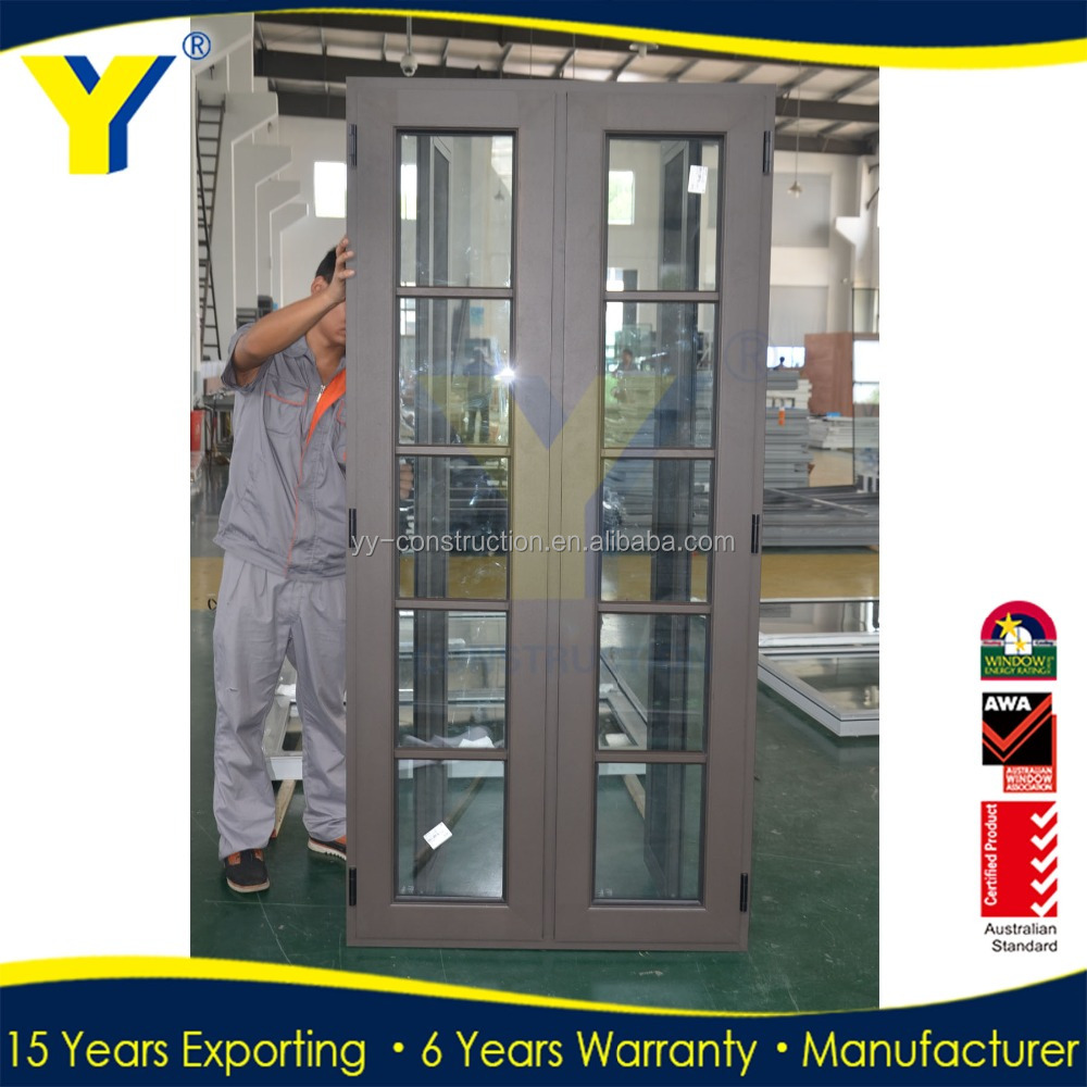 Aluminum Side Opening Window from YY factory of Aluminium double glazed windows & doors solutions